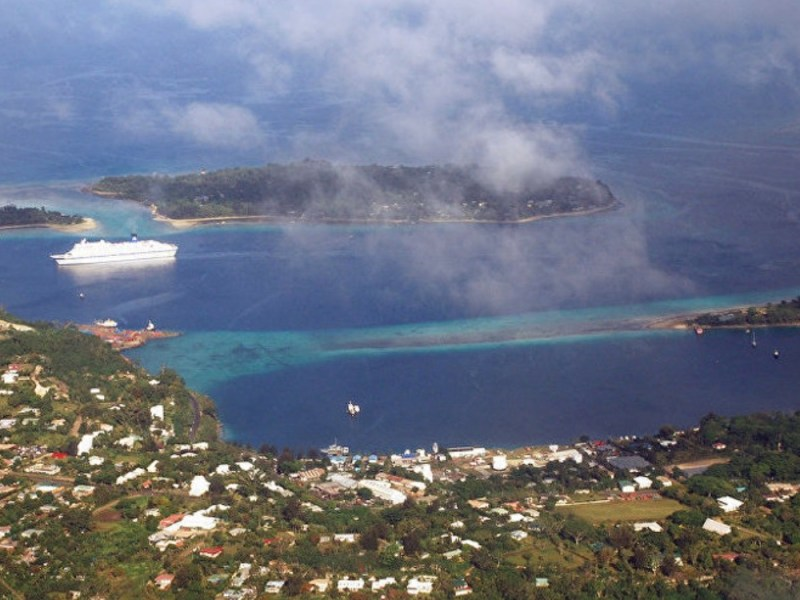 A port facility on the Pacific island nation of Vanuatu. Photo: Twitter