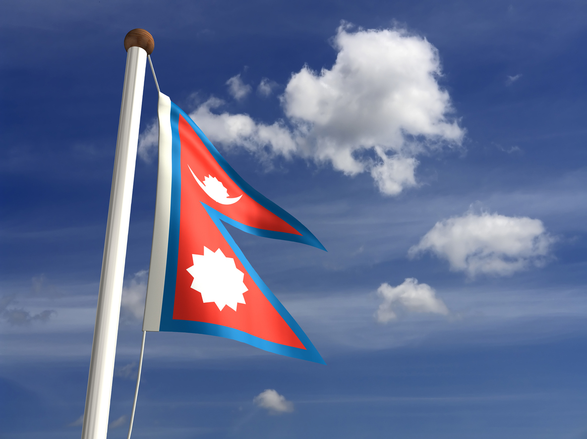 3D Nepal flag (with clipping path)see more country.. Photo: iStock