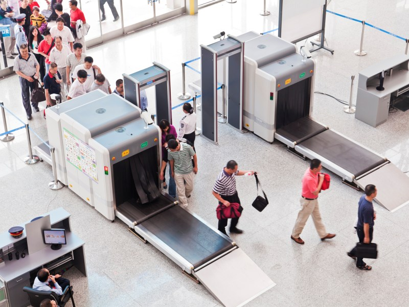 Passengers queuing up for security check at Guangzhou South Railway Station. Photo: iStock