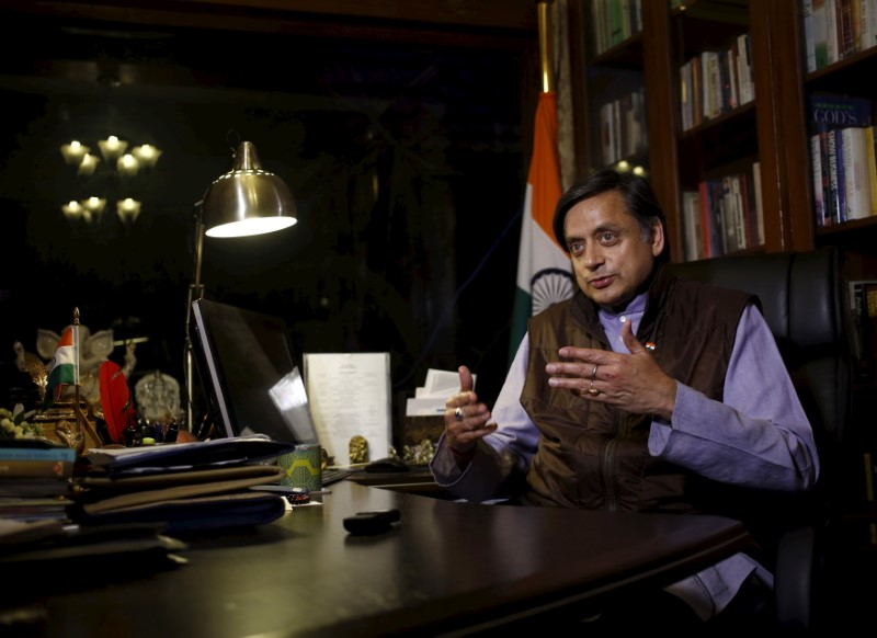 Shashi Tharoor, a former member of parliament from India's main opposition Congress party. Photo: Reuters/ Anindito Mukherjee