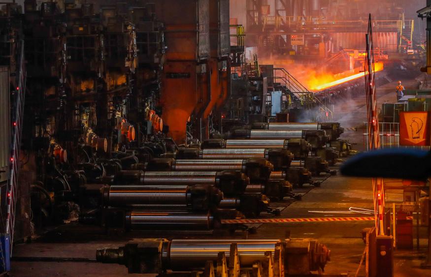 ArcelorMittal's steel plant in Ghent, Belgium. Photo: Reuters/Yves Herman