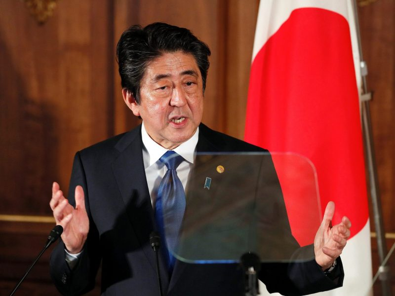 Japanese Prime Minister Shinzo Abe is under fire on a number of fronts. Photo: Reuters/Kimimasa Mayama
