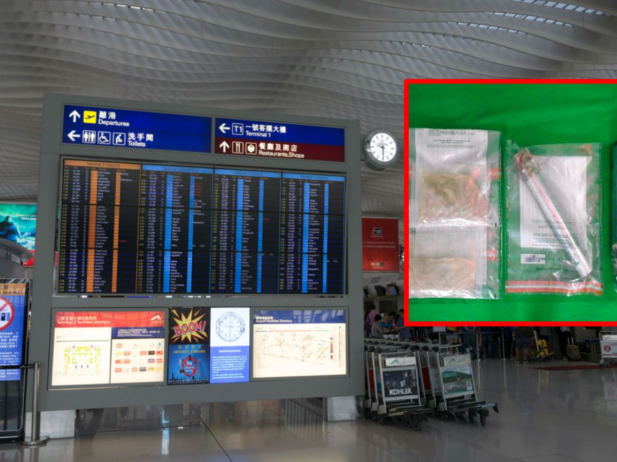 Customs seized about 1.7 kilograms of suspected cocaine at Hong Kong International Airport. Photos: HK Government, iStock