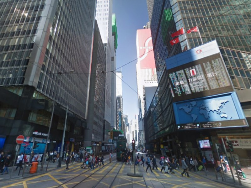 Central in Hong Kong Island. Photo: Google Maps