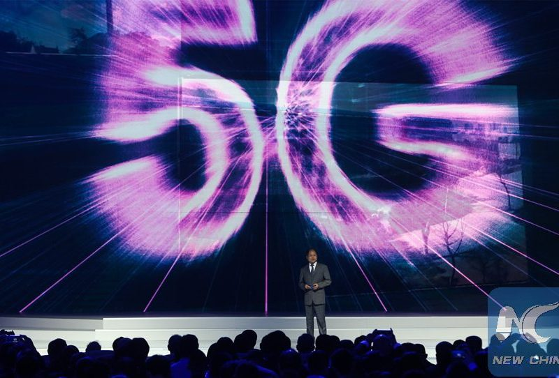 Xu Zhijun, Huawei's rotating CEO, introduces the company's 5G Pre-commercial System at the World Internet Conference in Wuzhen last year. Photo: Xinhua