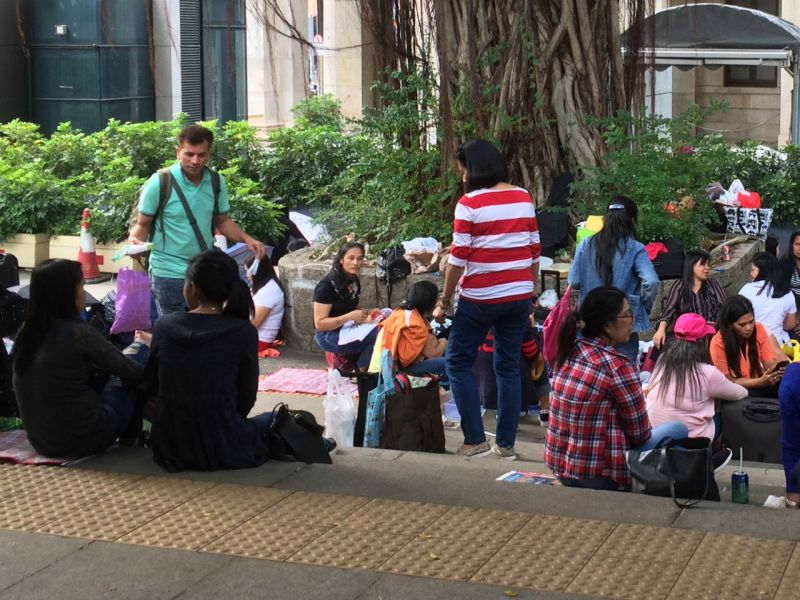 Domestic workers in Hong Kong. Photo: Asia Times