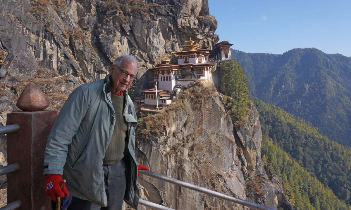 Don Kirk at the Tiger's Nest Temple in Bhutan. Photo: www.donkirk.com