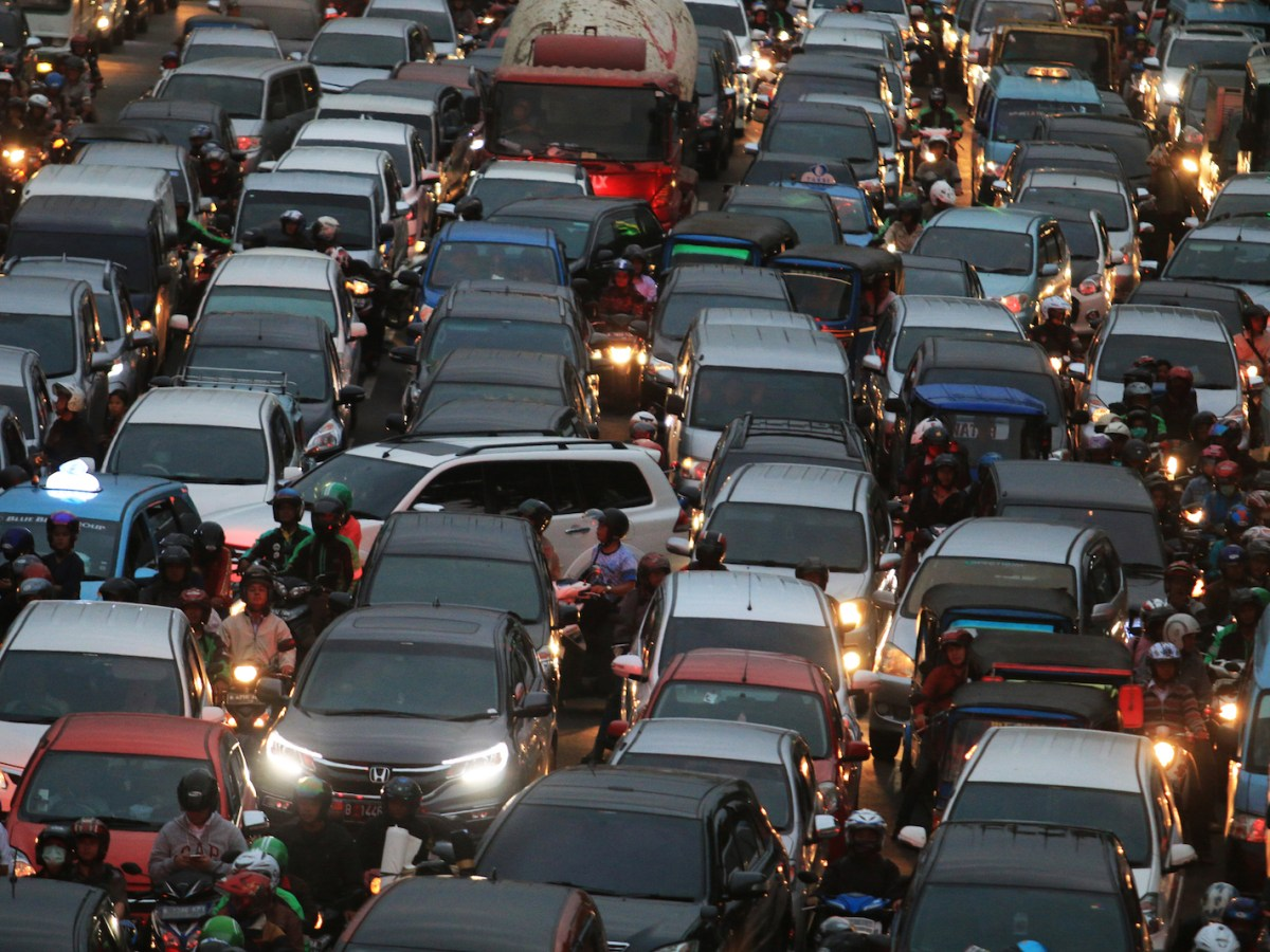 Infrastructure development in Jakarta has caused even more severe traffic congestion, Jakarta, July 25, 2017. Image: iStock/Getty Images
