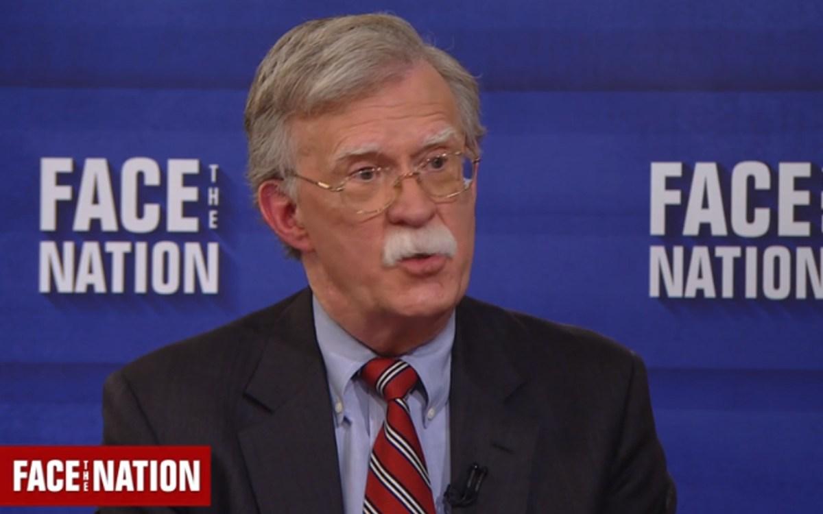 US national security advisory John Bolton. CBS screen grab