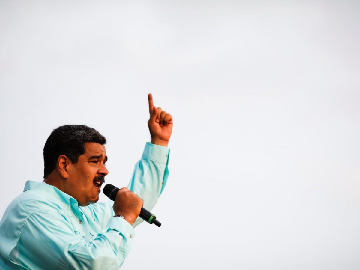 President Maduro launched his Petro crypto coin in late 2017 with the aim of circumventing US trade sanctions and easing the pressure on the ever-sliding bolivar. Photo: Reuters / Carlos Garcia Rawlins