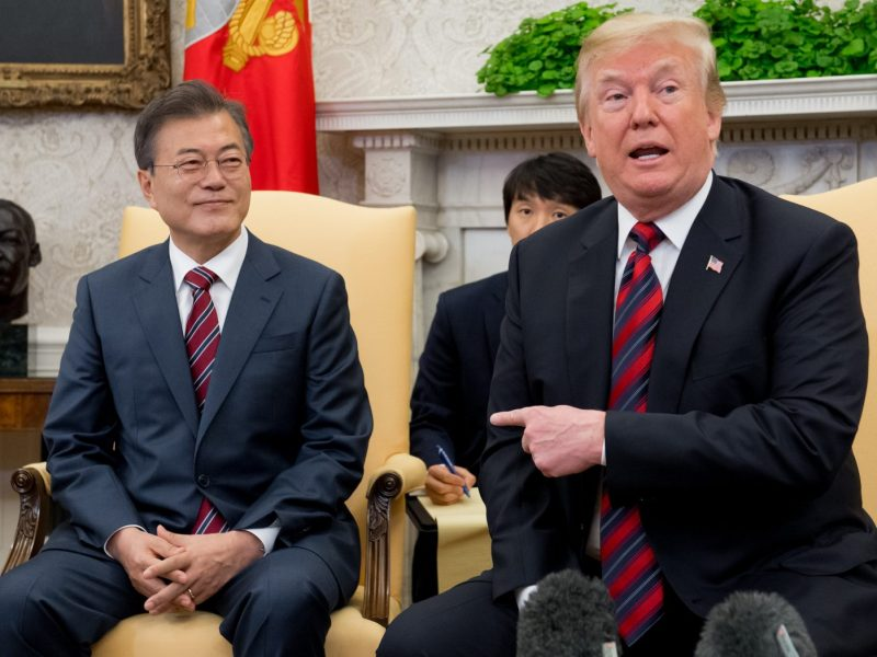 US President Donald Trump's trade policies have had a serious impact on South Korean President Moon Jae-in. Photo: AFP/Saul Loeb