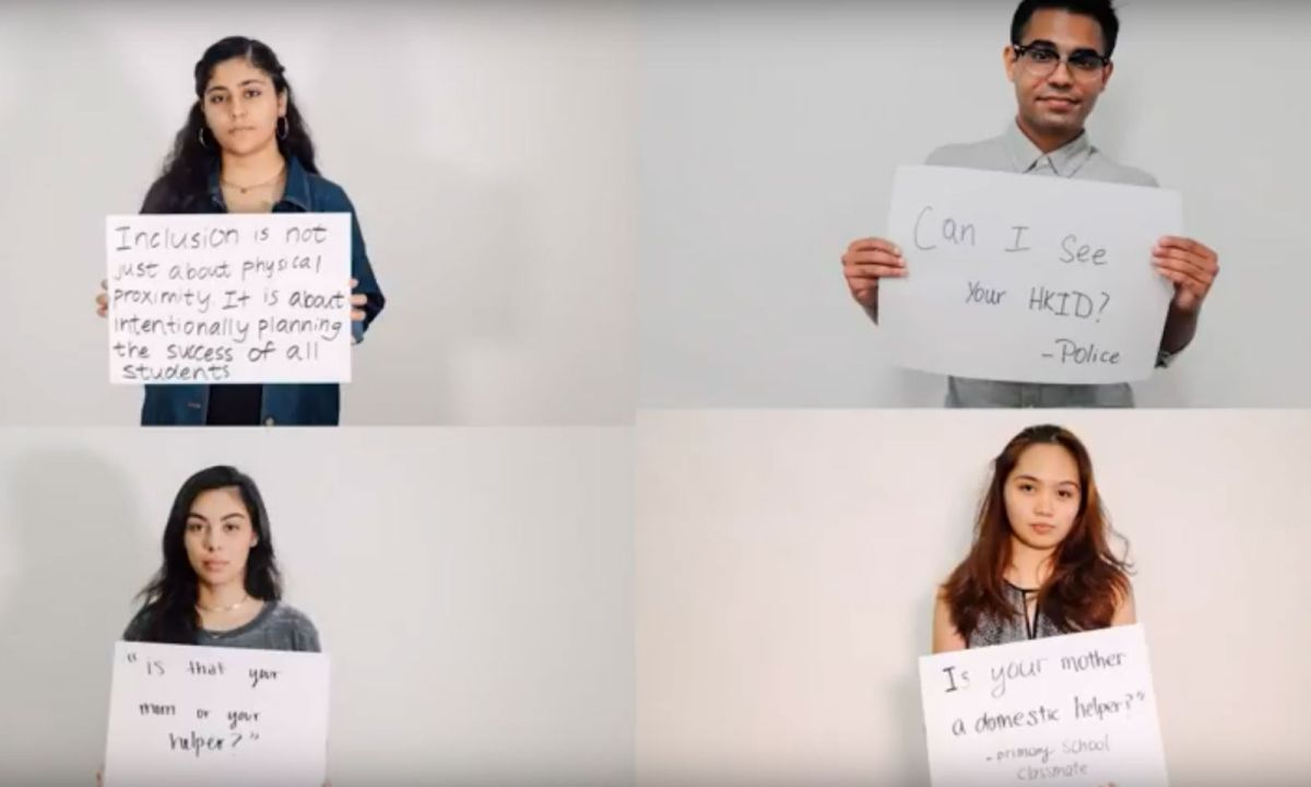 'Own Voice: Breaking Stereotypes' is a documentary by a Filipino student that aims to tell the stories of ethnic minorities in Hong Kong. Photo: YouTube