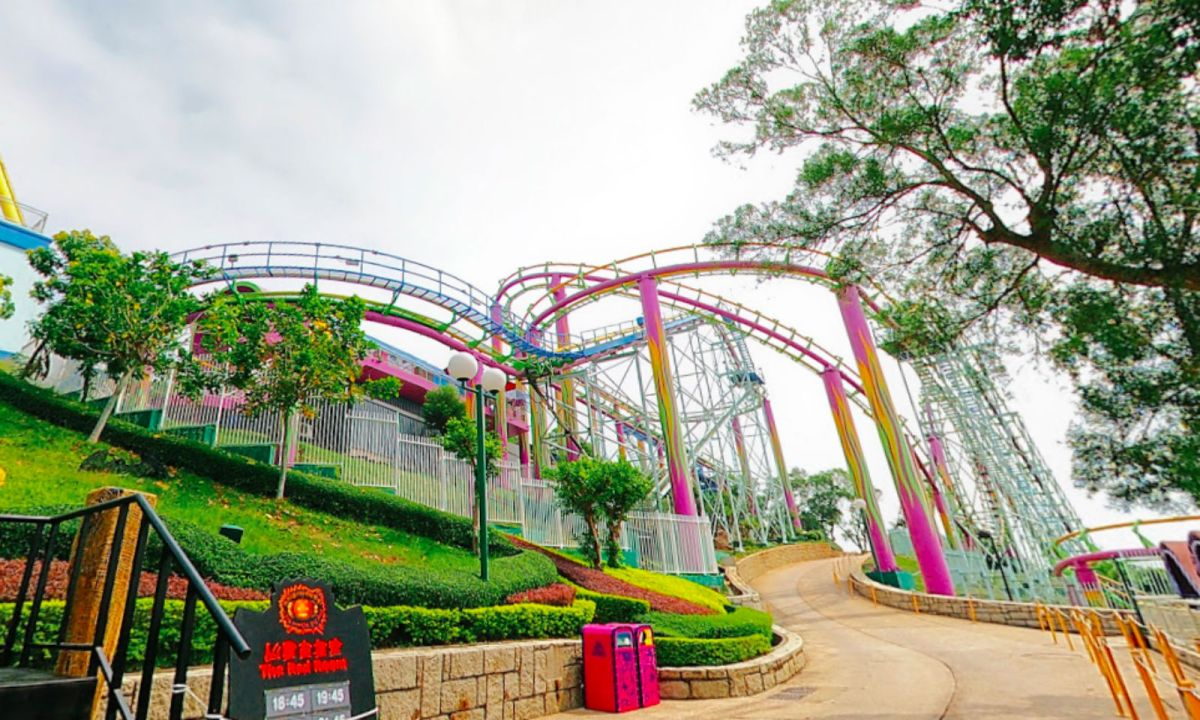The Dragon roller coaster at Hong Kong Ocean Park. Photo: Google Map/N John