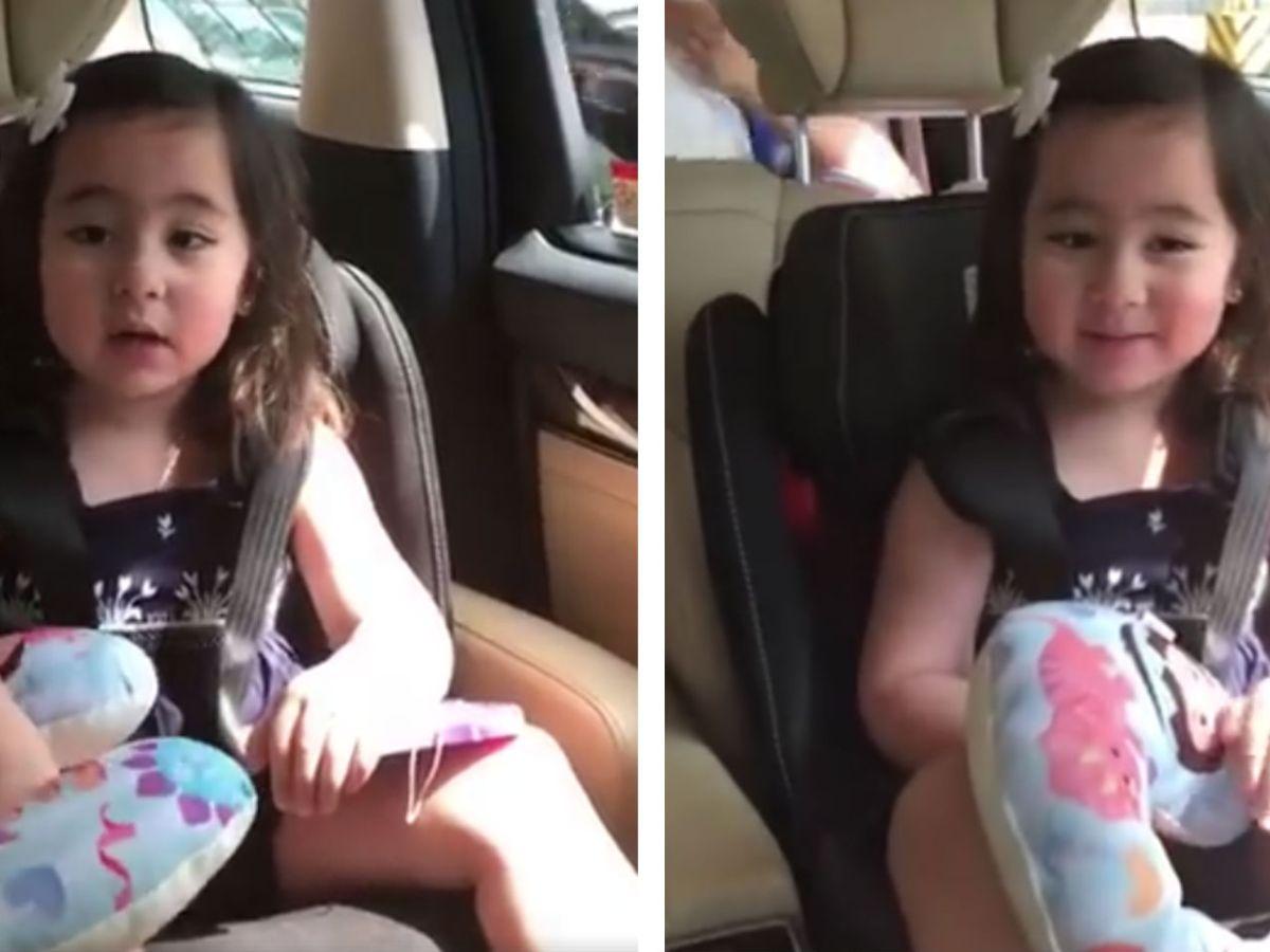 Scarlet Snow Belo sings for Filipinos working in the Middle East. Photo: Instagram@scarletsnowbelo