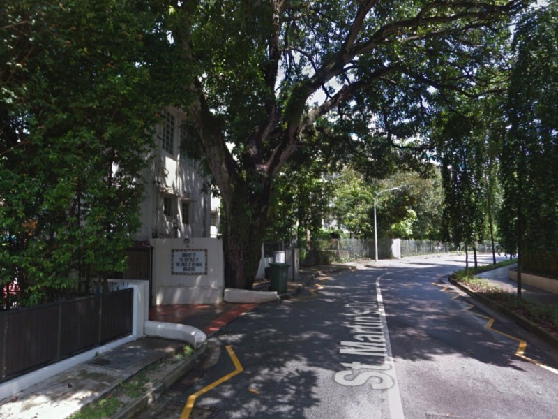 The Myanmar Embassy on St Martin's Drive in Singapore. Photo: Google Maps