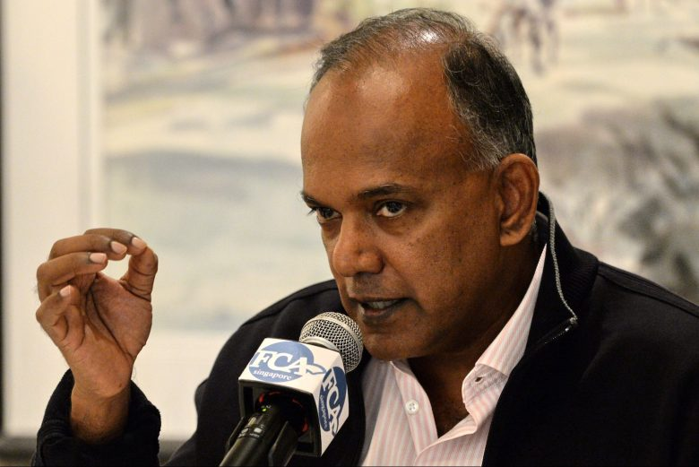 Singapore's Home Affairs Minister K. Shanmugam speaks to journalists during the Foreign Correspondents Association of Singapore luncheon in Singapore on December 2, 2016. The danger of attacks by Islamic State (IS) supporters in Southeast Asia has increased as the group searches for new fronts after setbacks in the Middle East, Singapore's internal security minister warned on December 2. / AFP PHOTO / ROSLAN RAHMAN