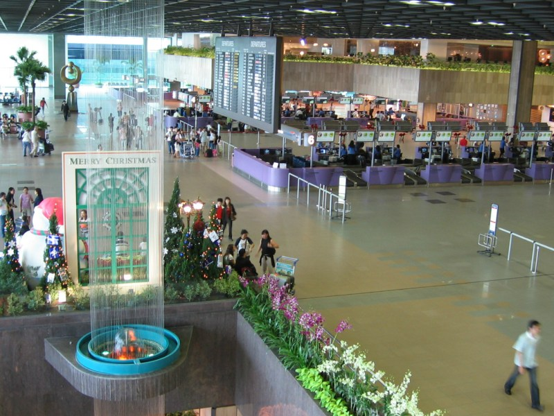Terminal 1, Departure Hall, Singapore Changi Airport. Wikimedia Commons/Mailer diablo