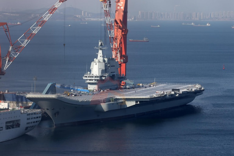 The home-made Chinese aircraft carrier has returned from its six-day sea trial. Photo: Weibo