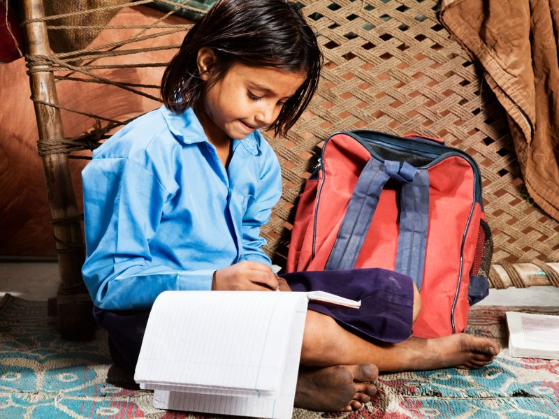 An Indian girl studies in a rural school. Photo: iStock