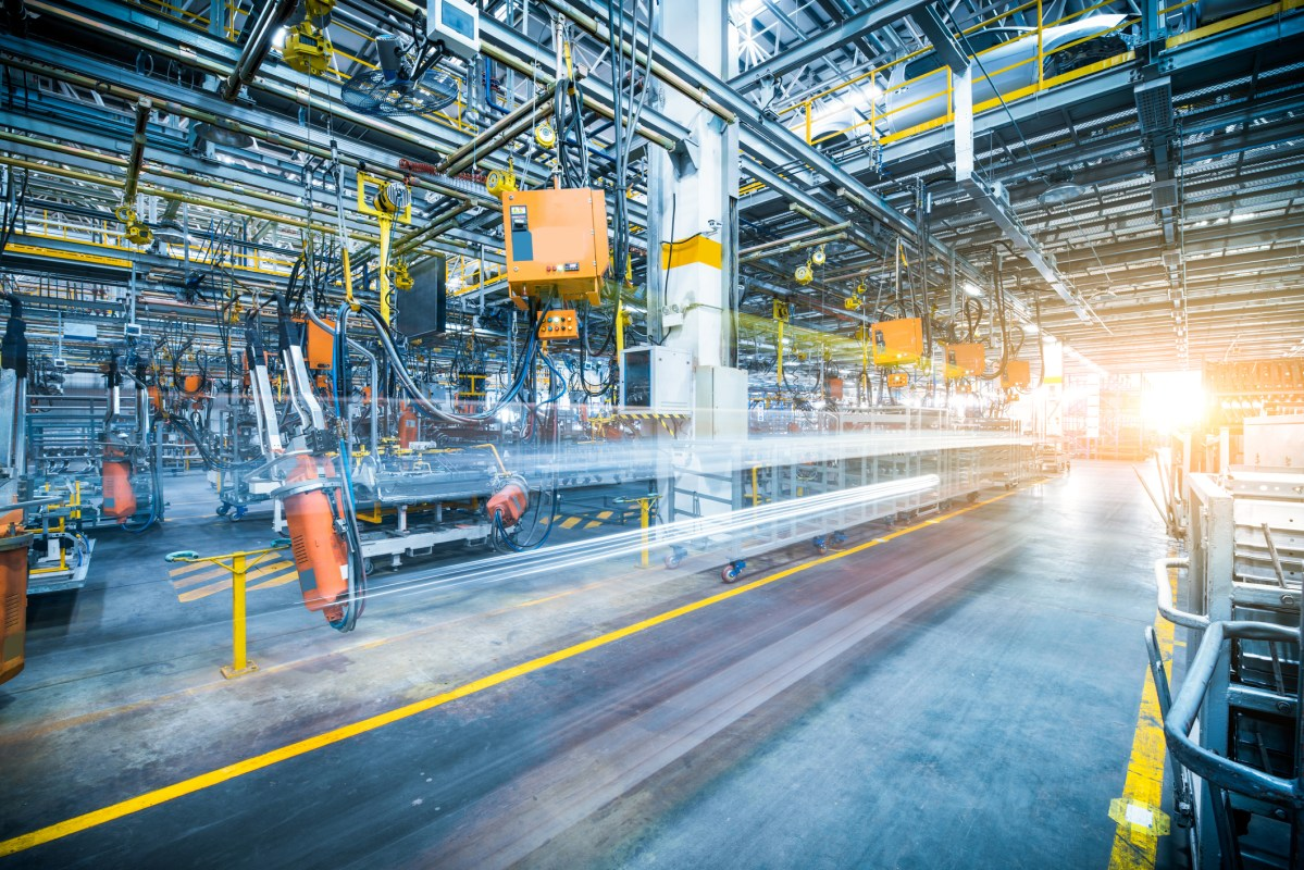 Robots welding in a car factory. Photo: iStock