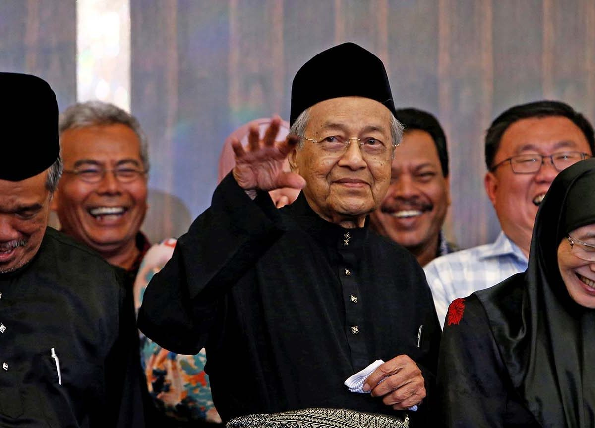 Malaysia's new Prime Minister Mahathir Mohamad is all smiles during a news conference in Kuala Lumpur on May 10, 2018. Photo: Reuters/Lai Seng Sin