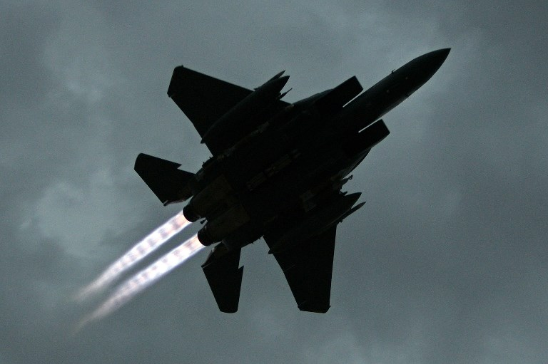 A US F-15E seen taking off.  Photo: AFP
