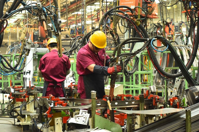 """China's manufacturing sector is included in the nation-wide """"Market Access Negative List."""" Photo: AFP"""