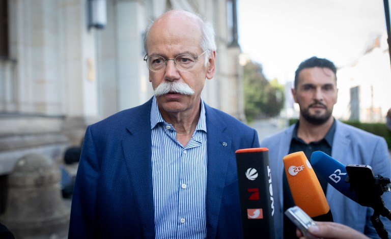 Dieter Zetsche, CEO of Daimler AG, leaves the Federal Ministry of Transport and Digital Infrastructure on Monday. Photo: dpa via AFP/Kay Nietfeld
