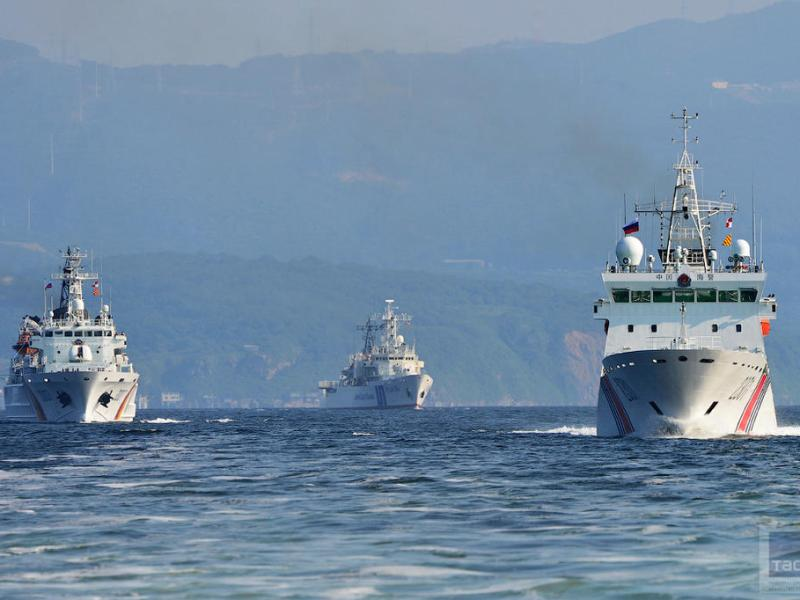 A file photo shows three China Coast Guard ships in the East China Sea. Photo: China Youth Daily