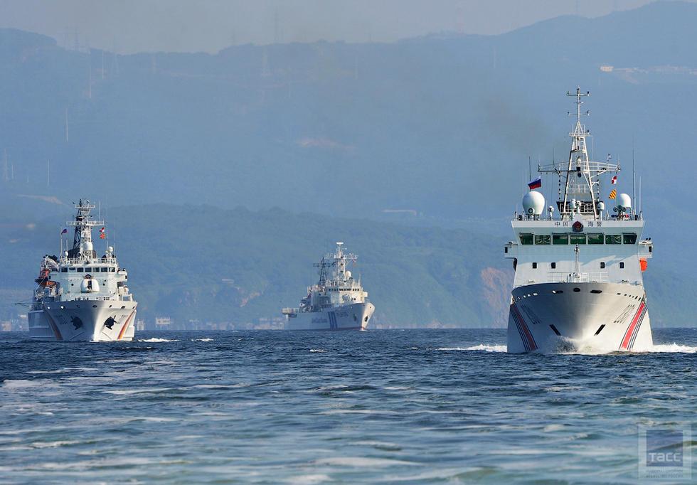 A file photo shows three China Coast Guard ships in the East China Sea. Photo: China Youth Daily