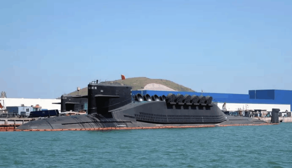 An undated photo of what is believed to be a Type 095 nuclear assault submarine. Photo: Weibo