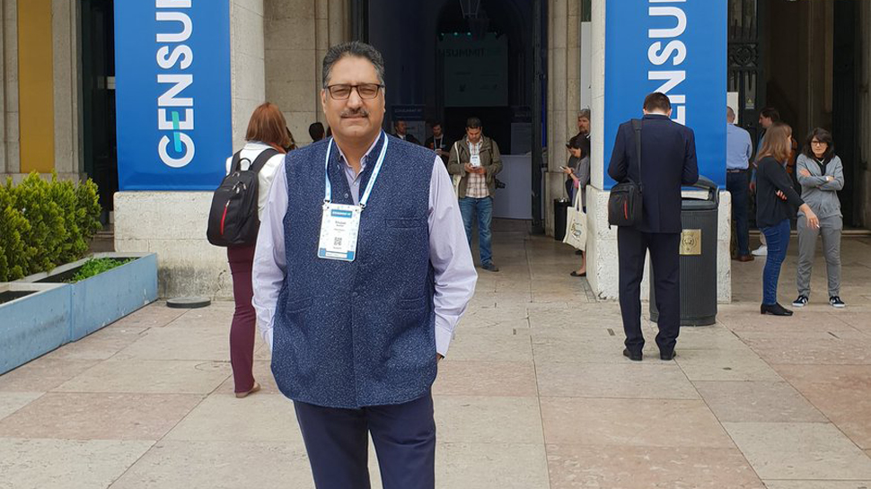 Shujaat Bukhari, who was gunned down by unidentified gunmen in Srinagar's Press Enclave. Photo: Twitter