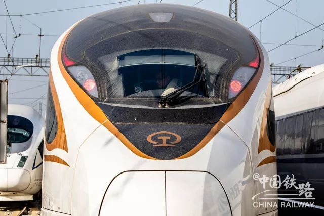 The front of the new Fuxing bullet trains that will replace existing rolling stocks on China's high-speed railways. Photo: China Railway Corp