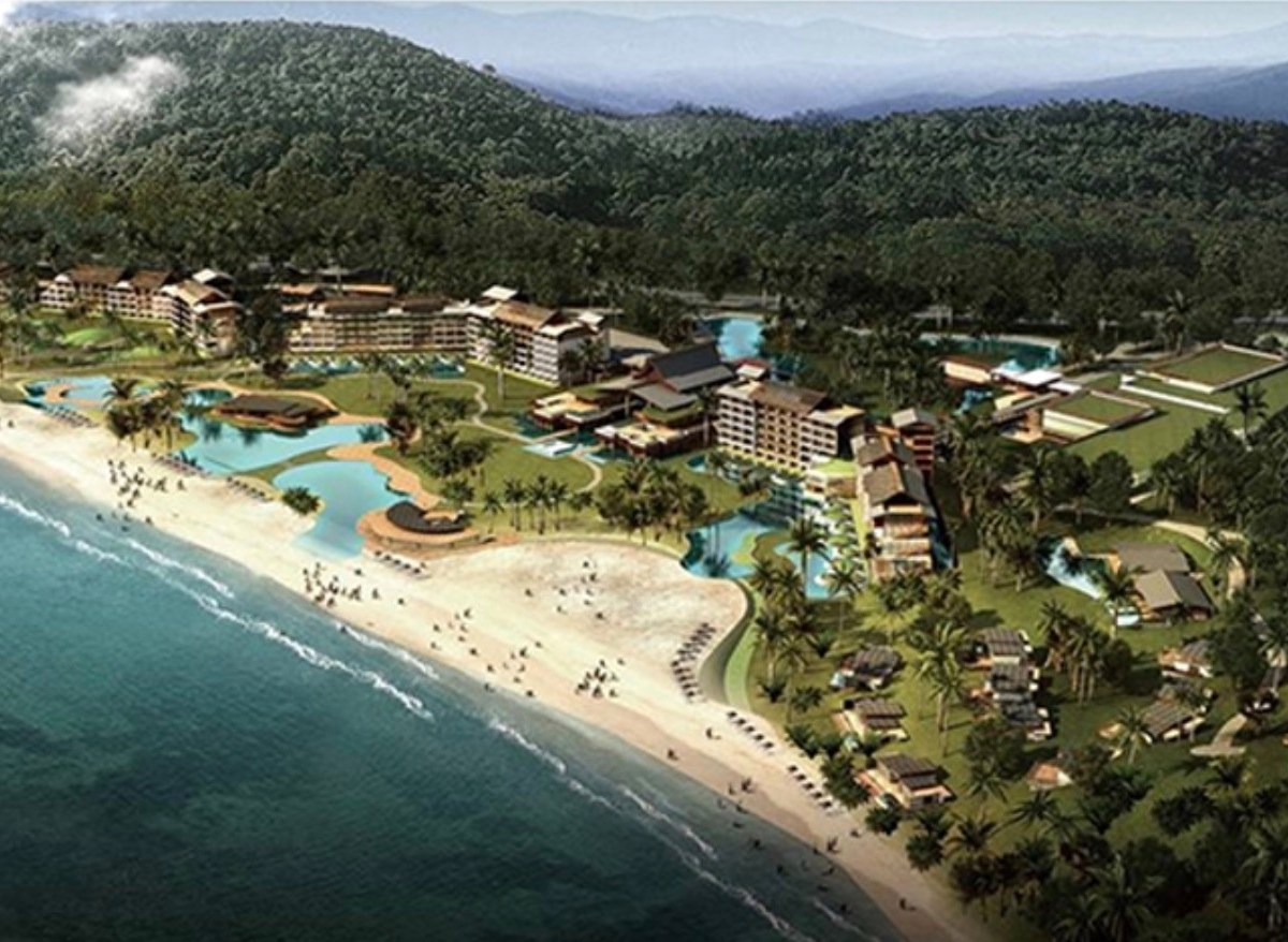 An aerial view of Tianjin Union Development Corporation's Koh Kong project in Cambodia. Image: Cambodia Constructor's Association