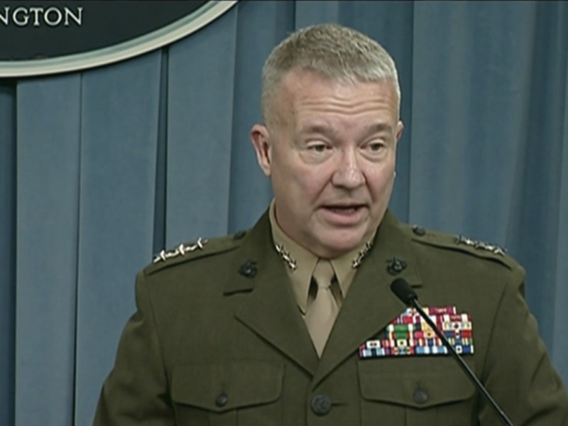 US Department of Defense Joint Staff Director Marine Corps Lieutenant General Kenneth McKenzie.
