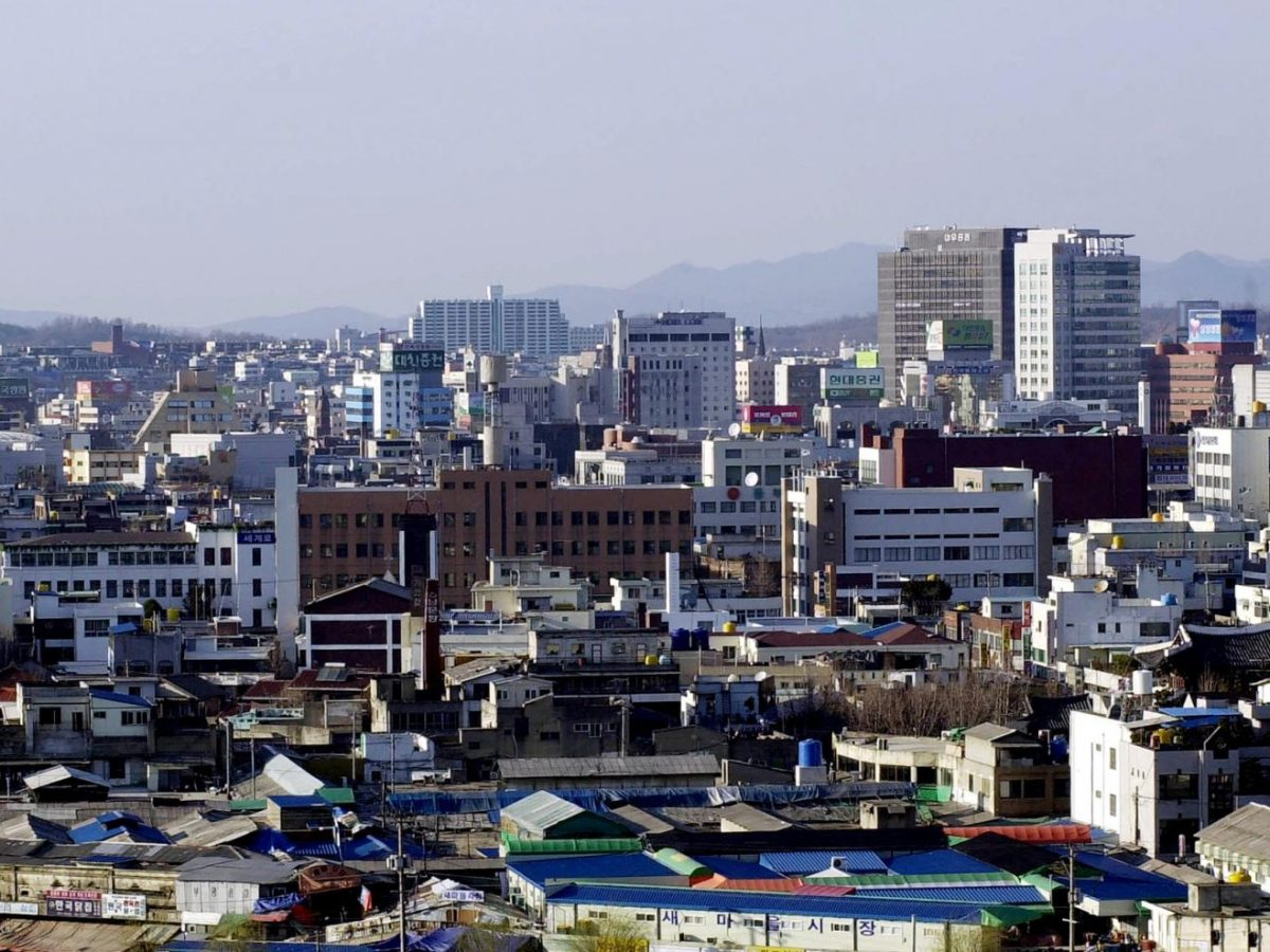 Jeonju on March 29, 2001. It was one of the selected cities in Korea to host the 2002 World Cup. Now the city is trying to kick a financial goal. Photo: AFP/Kim Jae-hwan