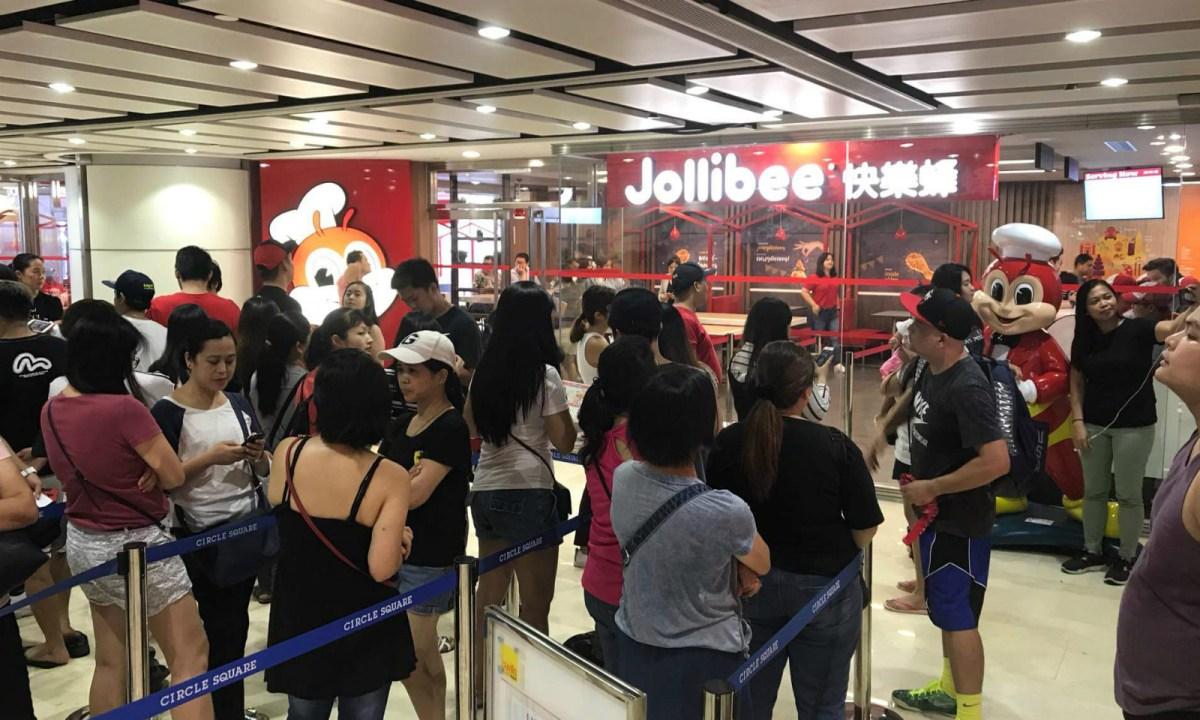 Jollibee opens its first shop in Macau on Wednesday. Photo: Gilbert Humphrey