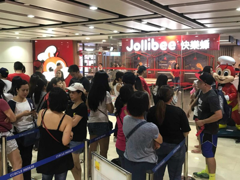 Jollibee opens its first shop in Macau on Wednesday. Photo: Gilbert Humphrey