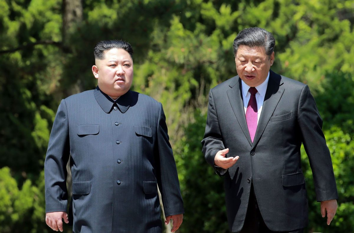 Chinese President Xi Jinping with North Korean leader Kim Jong-un meeting in Beijing last May. Photo: NCNA via AFP