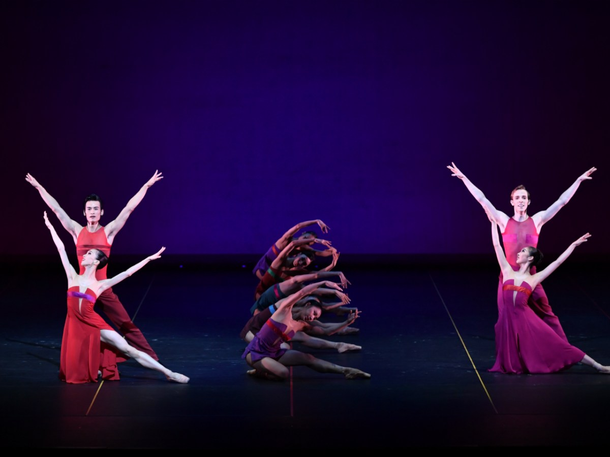 Hong Kong Ballet Dancers in Christopher Wheeldon's Rush. Photo: Conrad Dy-Liacco