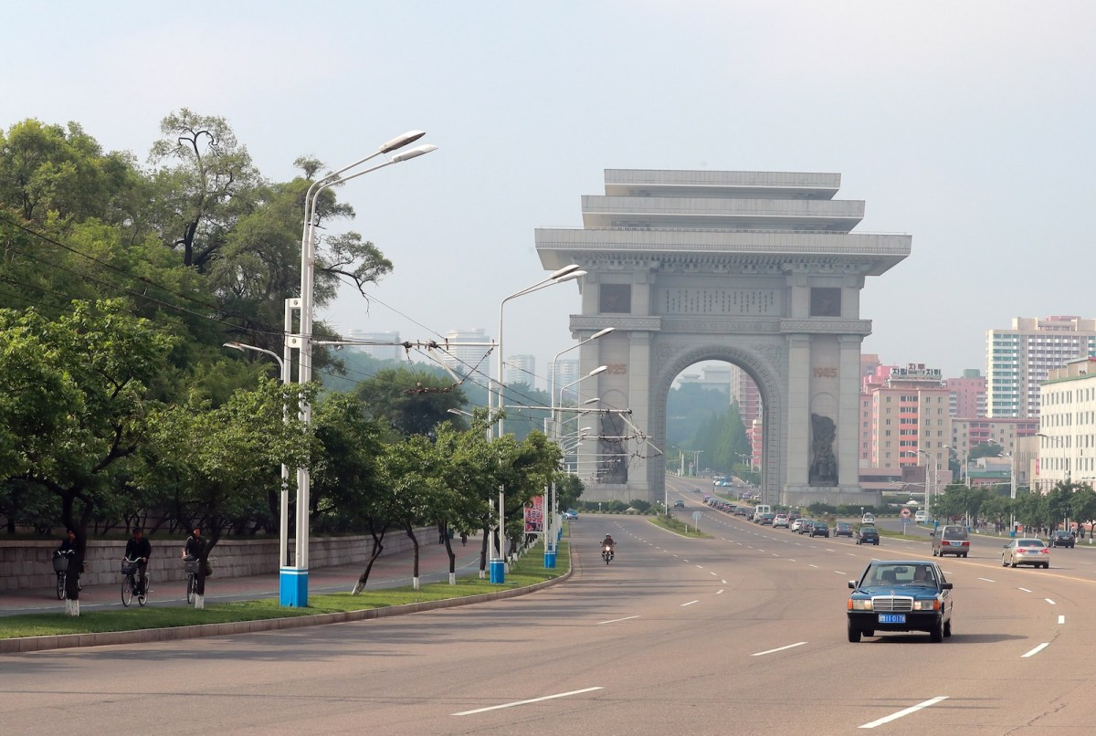 The Arch of Triumph in the North Korean capital of Pyongyang. Photo: AFP/Vitaliy Belousov/Sputnik