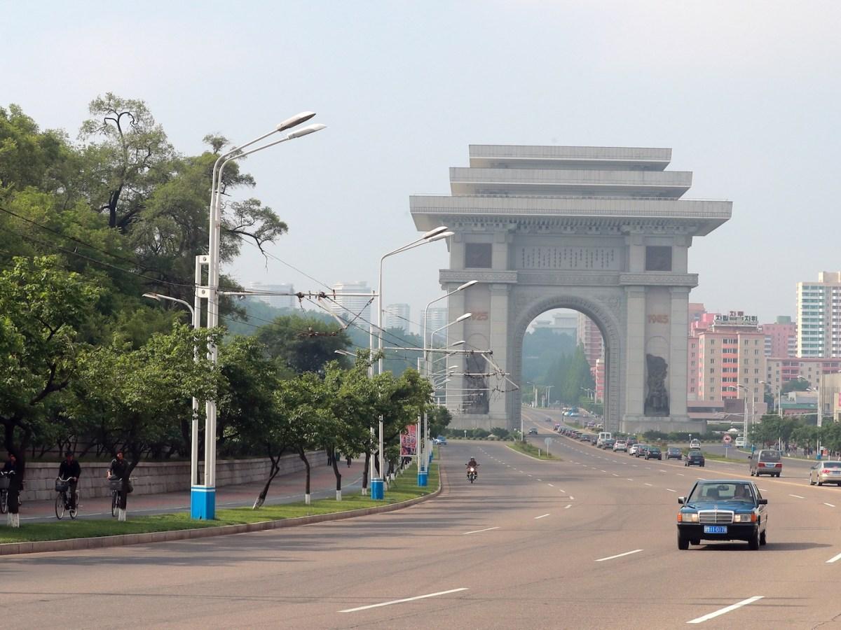 The Arch of Triumph in the North Korean capital of Pyongyang. Photo: AFP/Vitaliy Belousov/Sputnik