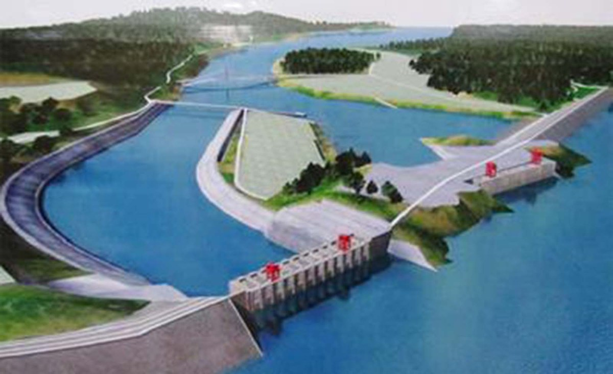 Artist's rendition of the postponed Myitsone Dam project in northern Myanmar. Photo: Wikipedia