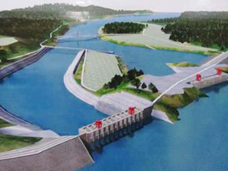Artist's rendition of the postponed Myitsone Dam project in northern Myanmar. Photo: Wikipedia