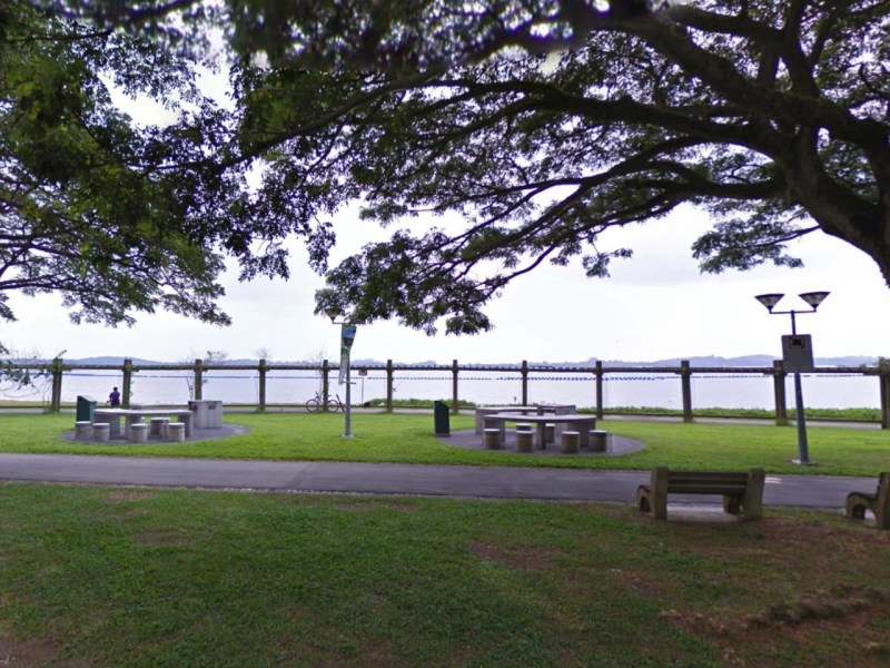 The barbecue area at Pasir Ris Park in Singapore where the incident happened. Photo: Google Maps