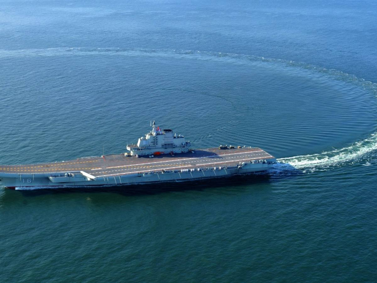 A file photo of the Chinese aircraft carrier Liaoning. Photo: Xinhua