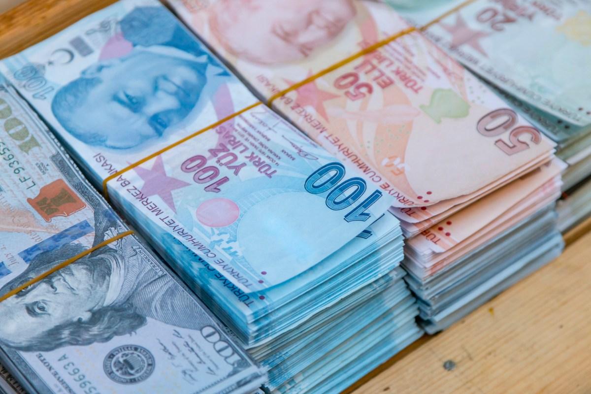 turkish banknote money. 2018-06-19