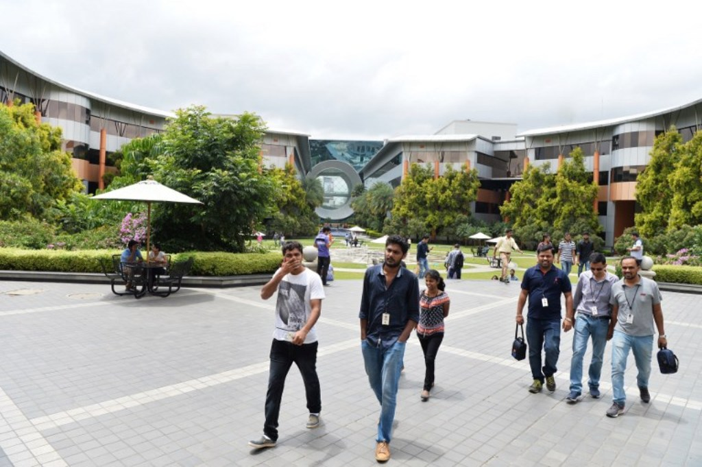 Infosys Technologies office campus in Bangalore. Photo: AFP