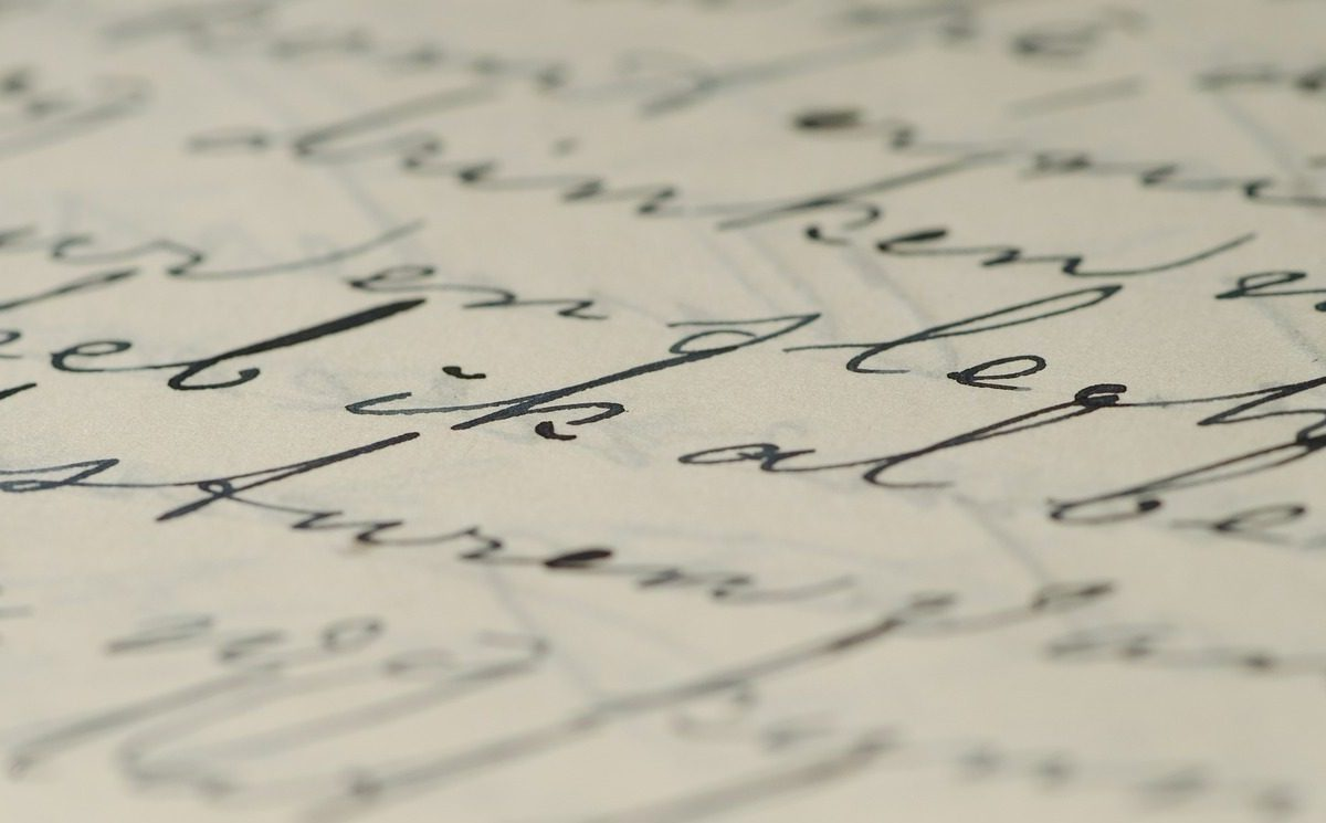 A written page. Photo: Pixabay