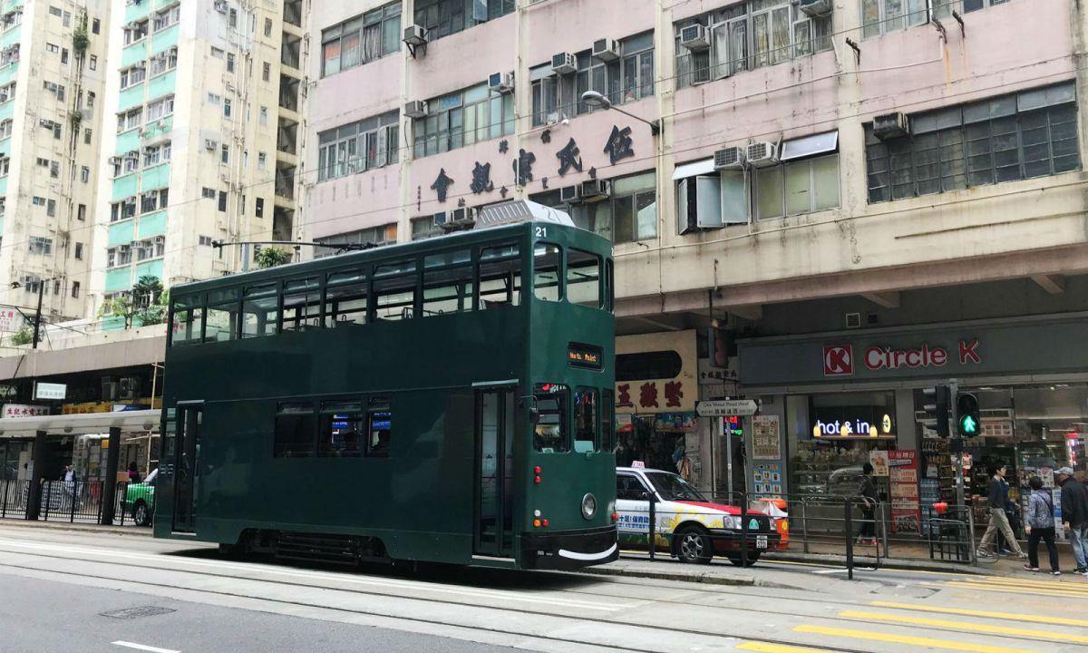 Tram on Hong Kong Island Photo: Facebook, Hong Kong Tramways